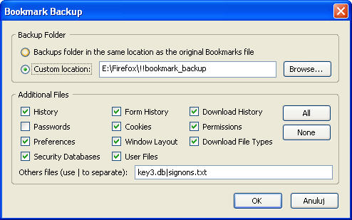 Bookmark Backup